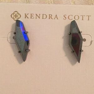 Hematite Brooke earrings. Worn once.